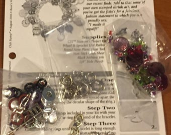 Just Reduced! Beautiful Shrink Art Racer's Bracelet Kit! - Crafting - Jewelry - FREE Shipping