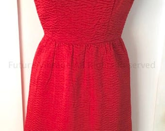1960s Stunning GAY GIBSON Red Wiggle Cocktail Dress-XS