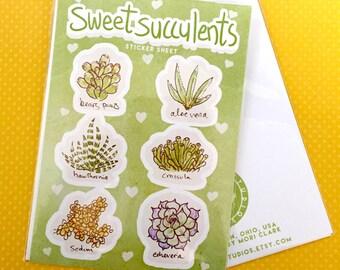 sweet succulents - sticker sheet