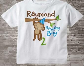 Birthday Boy Shirt, Personalized Birthday Boy Monkey Shirt or Onesie any age, Monkey Shirt 12312013j
