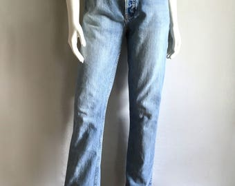 Vintage Women's 80's Gap Jeans, High Waisted, Long, Denim (M)