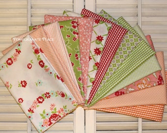 Bonnie and Camille... Miss Kate, Hello Darling, and Handmade .. Moda fabrics .. 13 fat quarter bundle ..