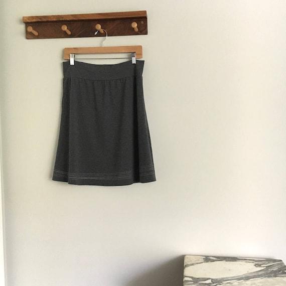 Jersey Line Skirt, Size Extra Large, Heather Grey, Cotton Jersey, aline, modern style- ready to ship