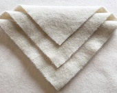 Felted Wool, 10in.x 10in. - French Vanilla - for Applique, Penny Rugs and Sewing Projects / W1000