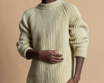 Vintage 70s Billy Buck Thick Wool Knit Sweater | L