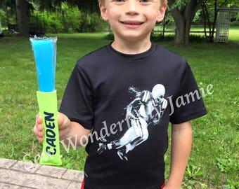 Personalized popsicle holder frozen yogurt holder