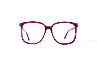 80s 90s On Guard Eyeglasses Women's Vintage 1980's 1990's Translucent Red Frames #M620 DIVINE