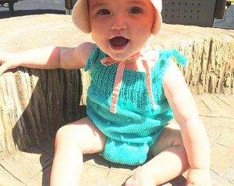 Baby Cotton Romper, Toddler Romper, Romper Size 3 Months, Cotton Romper Size 12 Months, Pink Romper Size 18 Months, Purple Cotton Romper