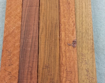 Five Exotic Wood Pen Blanks Assortment - Crafts - Woodturning