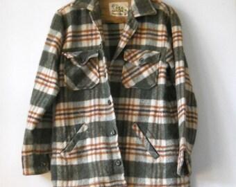 Vintage The DEA Jacket • Vintage Wool Jacket Deacon Brothers • Vintage Plaid Wool Barn Jacket
