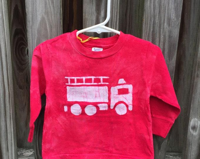Fire Truck Shirt, Red Fire Truck Shirt, Fire Engine Shirt, Red Truck Shirt, Boys Fire Truck Shirt, Girls Fire Truck Shirt (18 months)