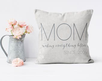Mother's Day Gift Personalized Gift Pillow Cover MOM