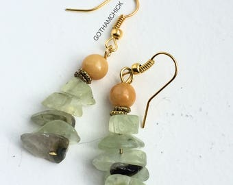Honey and Green stack Earrings