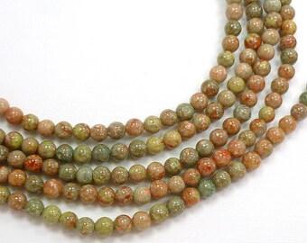 8mm round Autumn Jasper Semi Precious Stone beads, Full Strand