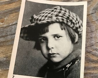 1920s Rare Vintage Photo Child Star Jackie Coogan CIGARETTE CARD Egyptian Prettiest Cigarettes Advertising Souvenir