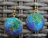 Nebula polymer clay earrings