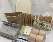 Wood Chipboard & Paper Mache Coverables - Tags, Napkin Rings, Clothespins, Flower Pot and More