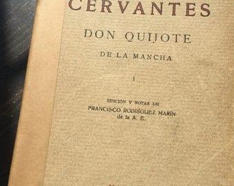 Don Quijote De La Mancha - Cervantes - 1931 -Edicion y Notas De Francisco Rodriguez Marin - Collectible Paperback Book