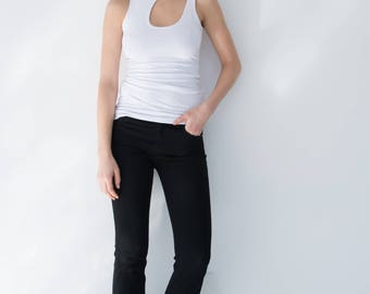 NEW Slim Boot Jeans / Boot Cut Jeans / Straight Leg Jeans / Tight Pants / Long Pants / Stretch Jeans / Marcellamoda - MP702