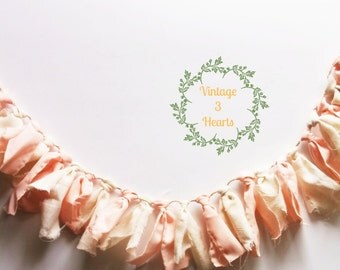 Peaches and Cream Garland. Fabric Tassel Garland. Easter Spring Pastels. Shower Banner. Photo Props. Nursery. Cottage
