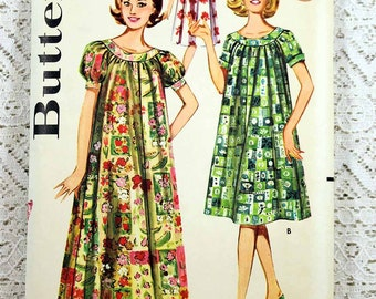 "Butterick 9946, Misses' Muu Muu Sewing Pattern, Shallow Necked Muu Muu Pattern, Vintage Pattern, Misses' Size 14, Bust 34"", Uncut"