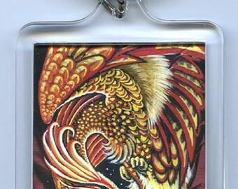 Firebird Phoenix Feather Key Chain