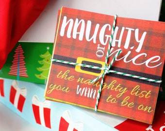 Naughty or Nice Coupons for Couples - Stocking Stuffer for him/for her