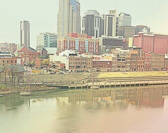 City photography, Nashville art, apartment decor, country music decor, cityscape wall art, Nashville print, Nashville wall art, city art