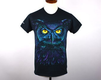 Owl T-Shirt, Size Small, Made in the USA