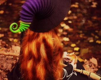 "Costume Hat. ""Potion"" Witch Hat. Wizard Hat. Fantasy Hat. Cosplay Hat. LARP."