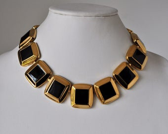 Napier Gold and Black Necklace