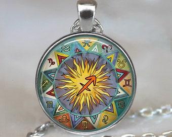 Sagittarius Bohemian Zodiac necklace, Boho Sagittarius necklace, Sagittarius jewelry Zodiac jewelry Zodiac necklace astrology key chain