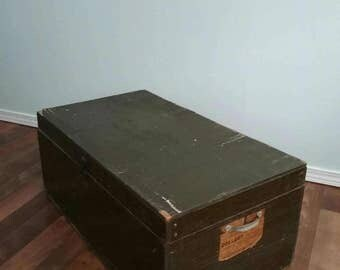 Rustic Wood Tool Box Antique, Rustic Toolbox, Storage Box Large Tool Chest, Primitive Wood Box, Industrial Storage, Large Wooden Trunk Props