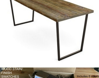 Urban Wood Desk, Barnwood Desk, Farmhouse Desk.  Finish/stain sample kit to try B4 you buy