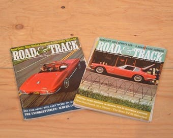 Vintage Set Of Two 1964 Road & Track, Classic Collector Car Magazines