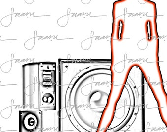Designer Graphic T-shirts - Music Madness Series - DJ Shirts - Legs 4 Days- Got Bass Beats