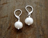 LARGE PEARL EARRINGS, Genuine Freshwater Pearls, Wedding Jewelry, Bridal Earrings, Leverback, Kate Middleton Inspiration, Pet Mom Gift