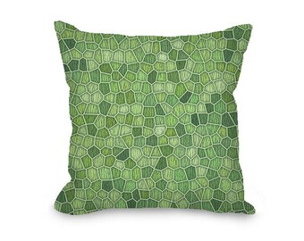 Green Throw Pillow Cover, modern geometric, greenery decorative pillow, modern decor, abstract pillow cover, printed art pillow