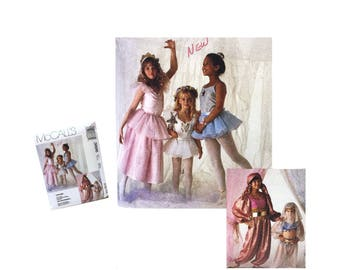 Vintage McCall's 3886 Girls Costume Girls Princess Costume Girls Fairy Costume, Ballerina Costume Harem Costume Girls Fortune Teller Costume