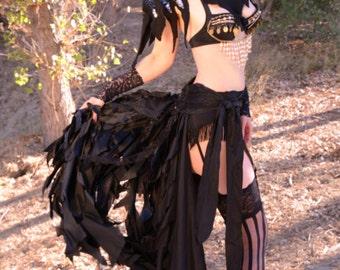 Black Alternative Belt Bustle, Steampunk Bustle,Burning Man Fashion, Masquerade, Cosplay, Goth Wedding,Burlesque, Pirate Wench