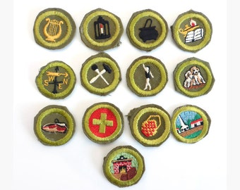 13 Boy Scout Merit Badges, 1950s