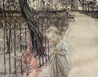 Angry When They Ran Away, Arthur Rackham, Vinatge Art Print