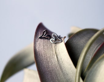 Niobium heart earrings