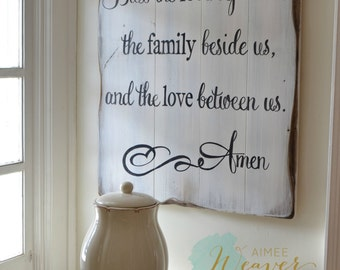 Blessing reclaimed wood sign