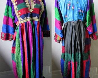 Stunning Hand Embroidered Antique Afgani Kutchi Tribal Patchwork Dress