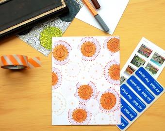 Postcard - Mandala Card - Mandala Print - Postcard Print - Pink Mandala - Boho Card - Meditative Art - Pink Print - Pink Postcard