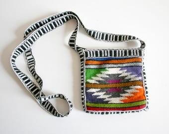 SALE Wool Textile Purse