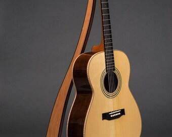 THE ORIGINAL - Take a Stand Guitar Stand in Cherry w/ Ebony Edge Binding