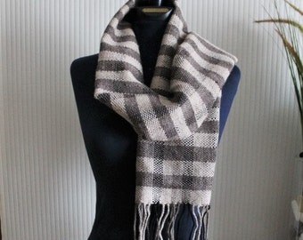 Handwoven scarf for Man - Shawl - Pastel scale - Unisex - Scarve - Christmas gift - Easter gift