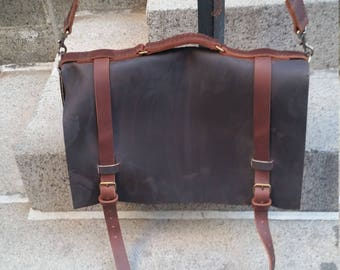 Litigator briefcase leather, Business bag, Leather business briefcase, Attorney bag, Professional satchel, Leather lawyer bag, Handmade